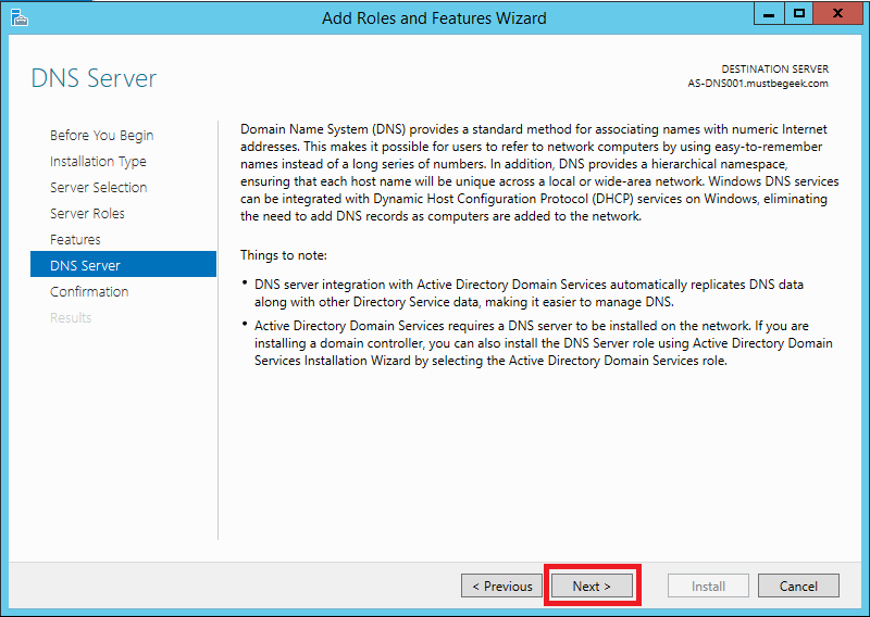 Install DNS Server Role in Windows Server 2012 R2 - 7