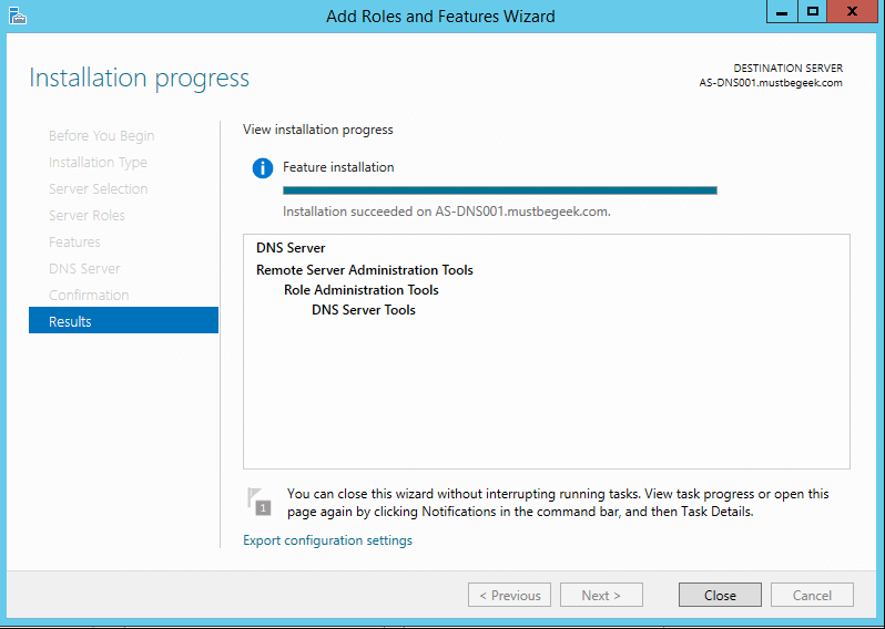 Install DNS Server Role in Windows Server 2012 R2 - 9