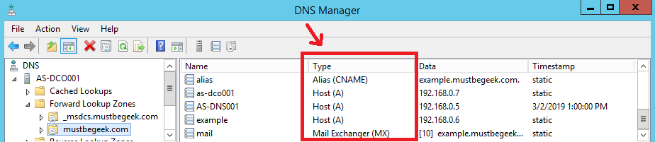 Understanding Different Types of Record in DNS Server - 1