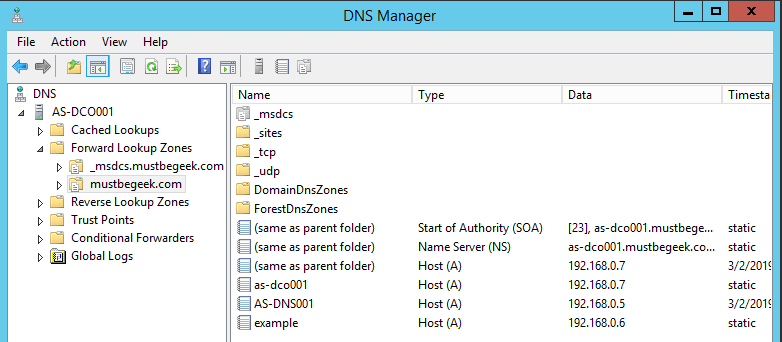 Understanding Forward and Reverse Lookup Zones in DNS - DNS Manager Forward Lookup