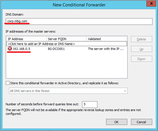 Configure Conditional Forwarding in Windows Server 2012 R2 - 4
