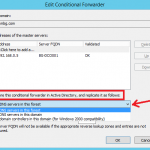 Configure Conditional Forwarding in Windows Server 2012 R2