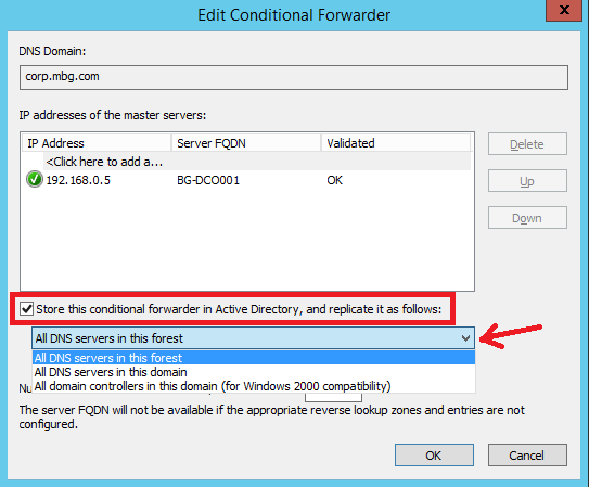 Configure Conditional Forwarding in Windows Server 2012 R2 - 5