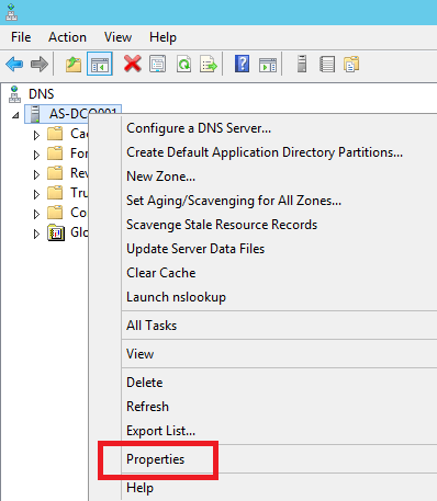 Configure DNS Forwarding in Windows Server 2012 R2 - 2