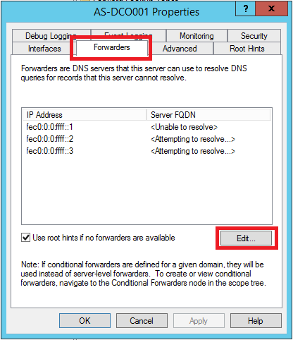 Configure DNS Forwarding in Windows Server 2012 R2 - 3