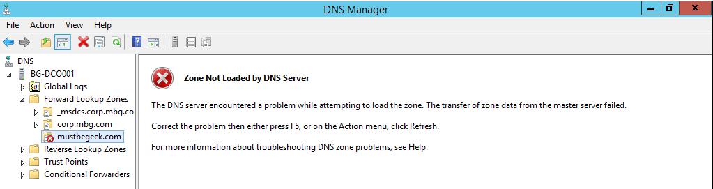 Configure Stub Zone in Windows DNS Server - 10