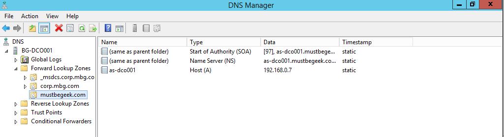 Configure Stub Zone in Windows DNS Server - 12