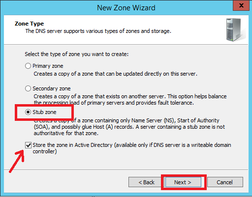 Configure Stub Zone in Windows DNS Server - 5