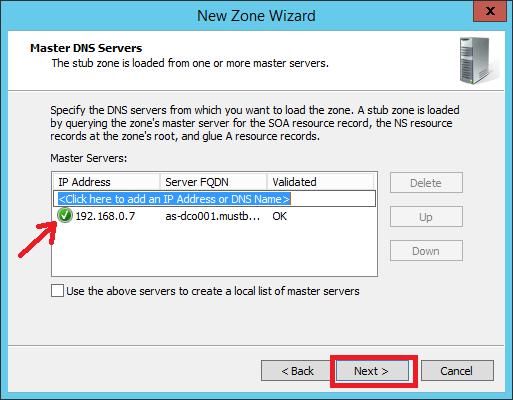 Configure Stub Zone in Windows DNS Server - 8