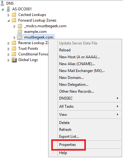 Configure Aging and Scavenging in Windows DNS Server - 1