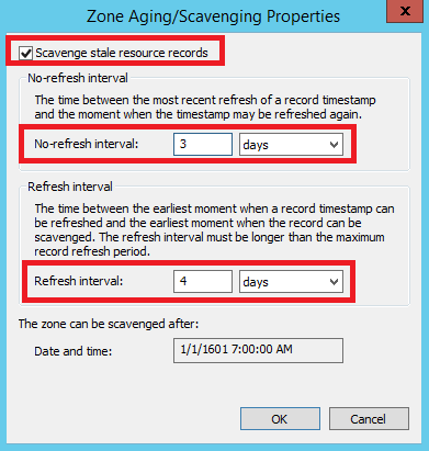 Configure Aging and Scavenging in Windows DNS Server - 3