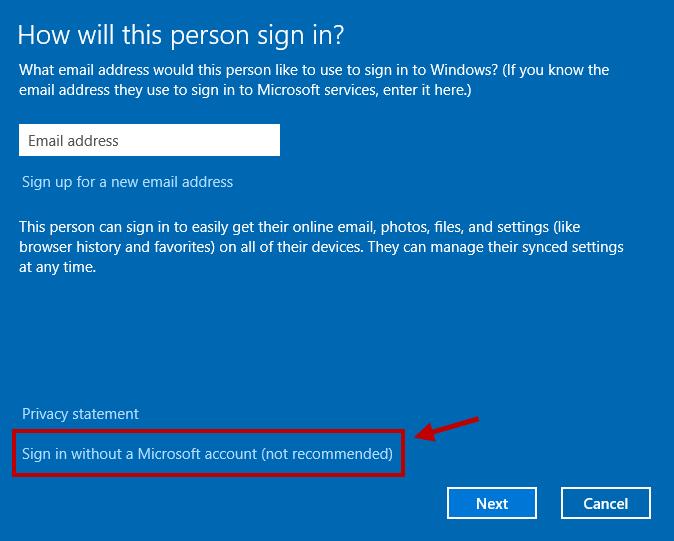 Create Local Administrator Account in Windows 10