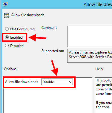 Disable File Download in Internet Explorer using Group Policy - 5