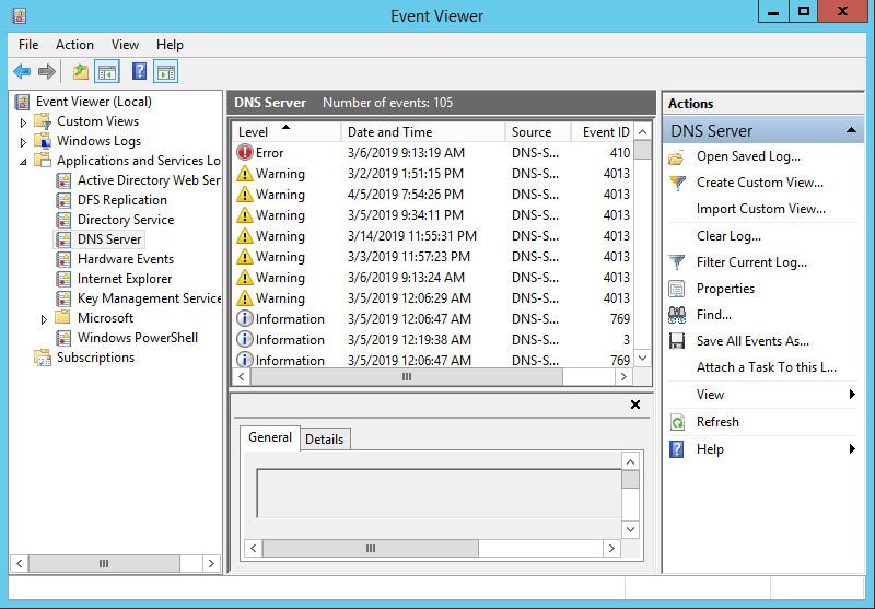 Enable Event Logging in Windows DNS Server - 4