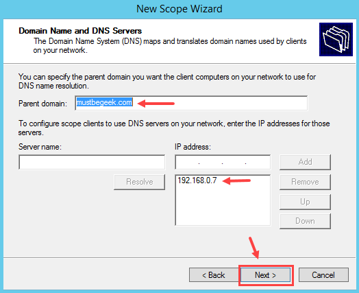 Configure DHCP Scope in Windows Server 2012 R2 - 10
