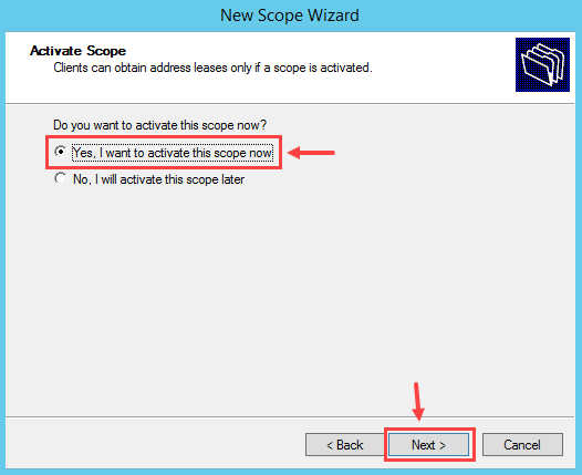 Configure DHCP Scope in Windows Server 2012 R2 - 12