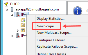 Configure DHCP Scope in Windows Server 2012 R2 - 2