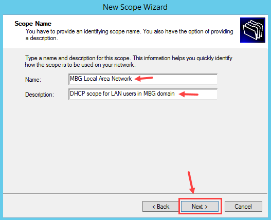 Configure DHCP Scope in Windows Server 2012 R2 - 4