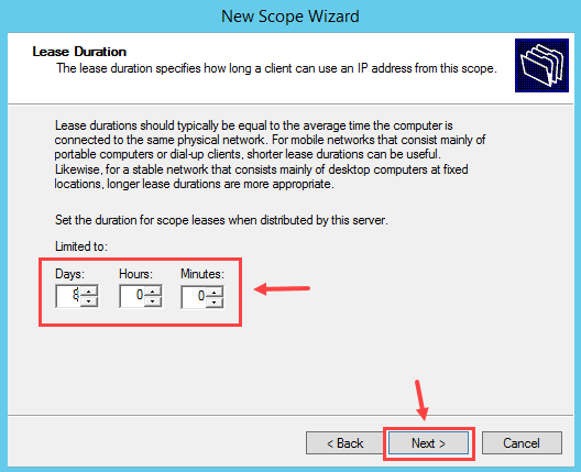 Configure DHCP Scope in Windows Server 2012 R2 - 7