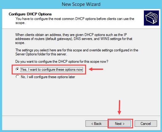 Configure DHCP Scope in Windows Server 2012 R2 - 8