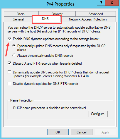 Configure DNS Dynamic Update in Windows DHCP Server - 1