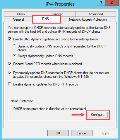 Configure DNS Dynamic Update in Windows DHCP Server - 8