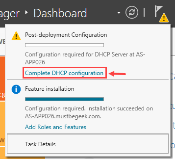 Installing DHCP Role in Windows Server 2012 R2 - 10