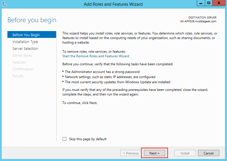 Installing DHCP Role in Windows Server 2012 R2 - 2