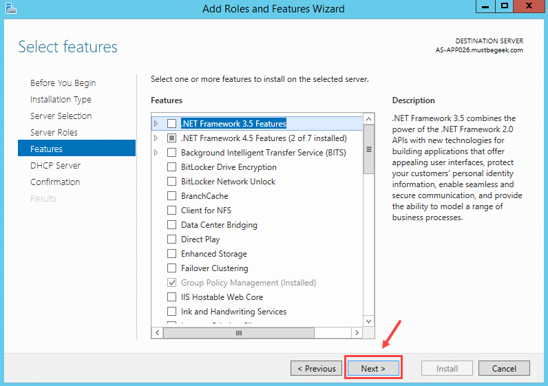 Installing DHCP Role in Windows Server 2012 R2 - 7