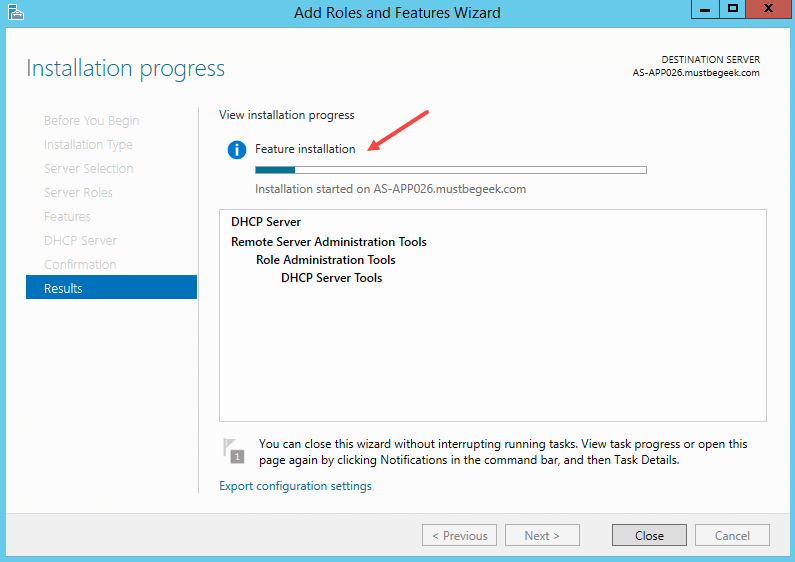 Installing DHCP Role in Windows Server 2012 R2 - 9