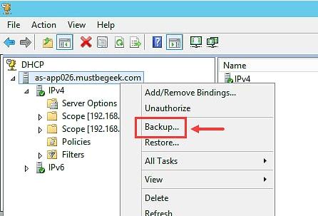Backup DHCP Server in Windows Server 2012 R2 - 2