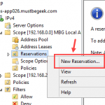Configure DHCP Reservation in Windows Server 2012 R2