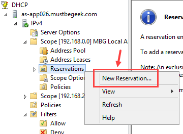 Configure DHCP Reservation in Windows Server 2012 R2 - 2