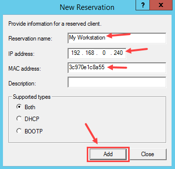 Configure DHCP Reservation in Windows Server 2012 R2 - 3