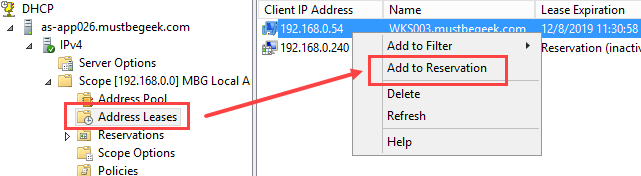 Configure DHCP Reservation in Windows Server 2012 R2 - 5