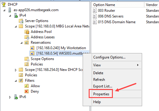 Configure DHCP Reservation in Windows Server 2012 R2 - 7