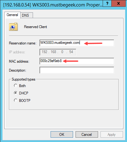 Configure DHCP Reservation in Windows Server 2012 R2 - 8