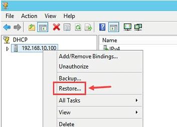 Restore DHCP Server in Windows Server 2012 R2 - 2