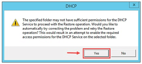Restore DHCP Server in Windows Server 2012 R2 - 4