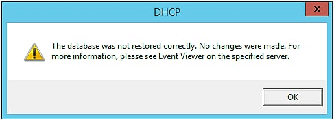 Restore DHCP Server in Windows Server 2012 R2 - 8